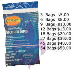 Kyпить Sears Kenmore Canister Type C Vacuum Bags For 5055, 50557 and 50558 Models на еВаy.соm