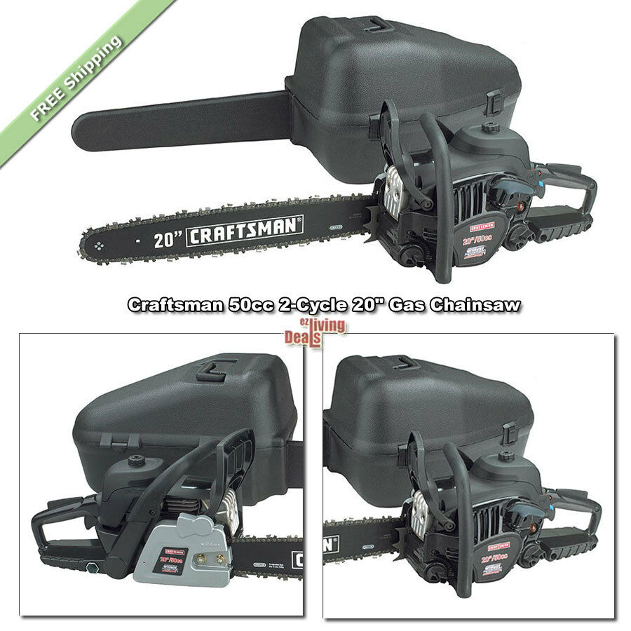 Landscaping Gas Tools : Gas chainsaw inch craftsman chainsaws cc cycle yard