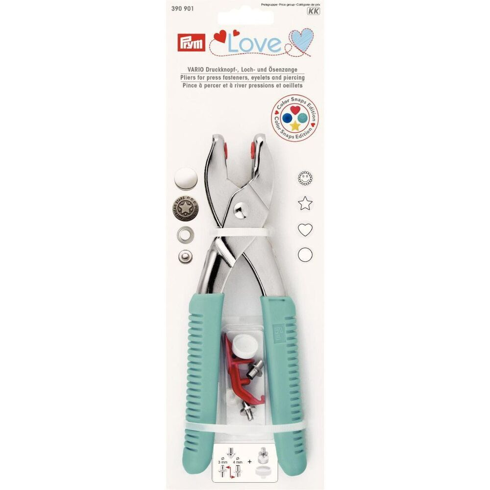 Prym Love Vario Pliers With Colorsnaps Tools And Piercing Tool