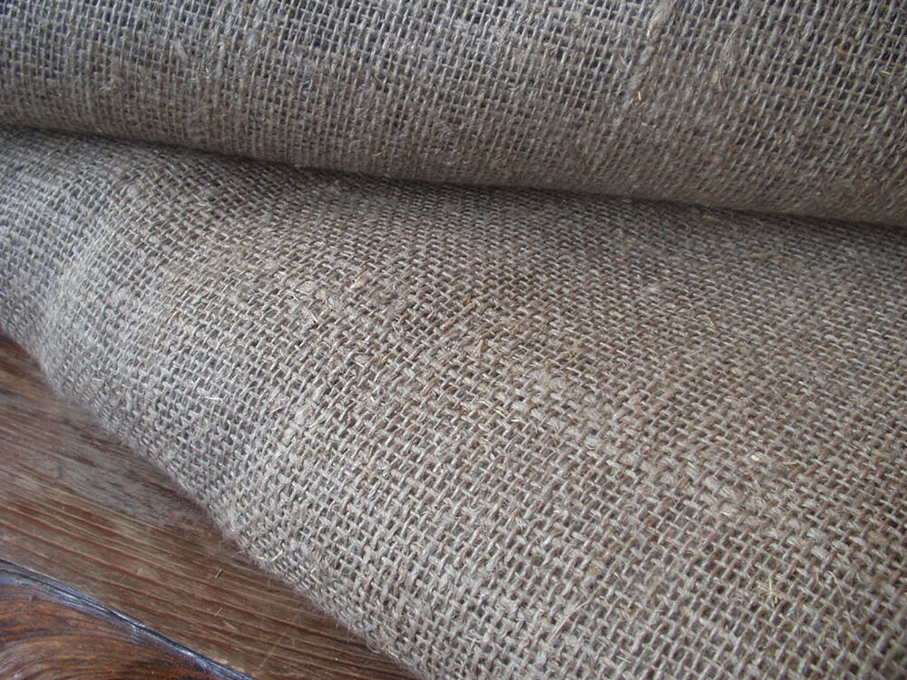 Natural Brown Burlap Pure Linen Flax Fabric Decorator