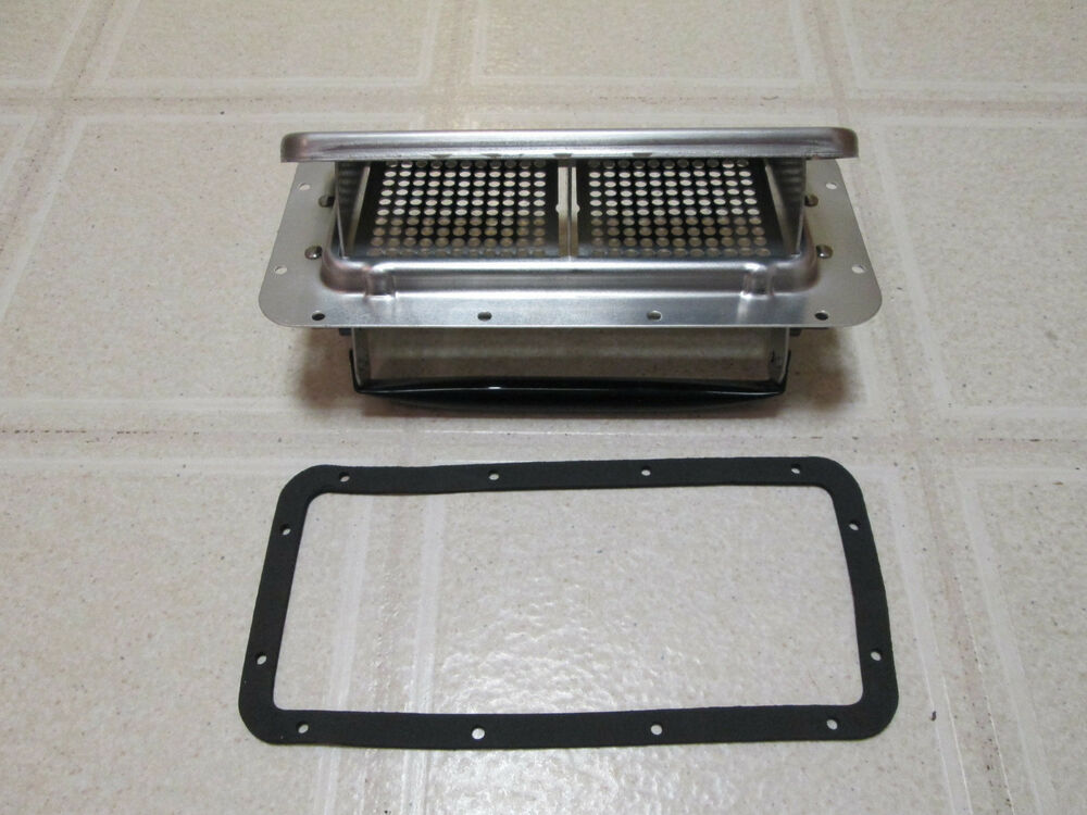Rally Car Roof Vent And Gasket 2 Way Hingeless Aluminum