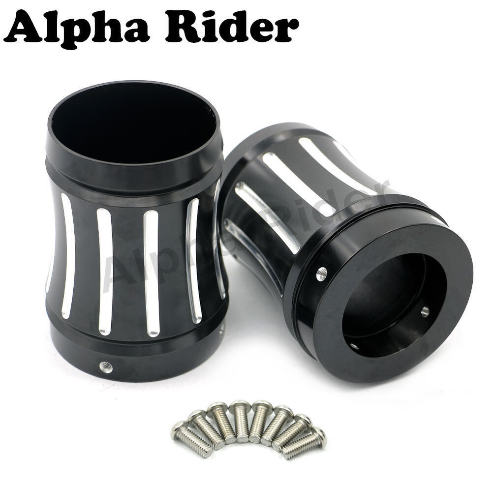 Exhaust Pipe Caps : Deep cut quot exhaust muffler tip end caps for harley bagger