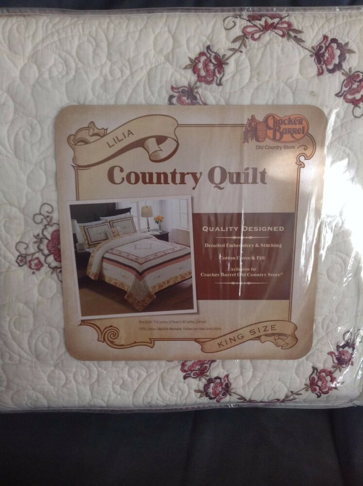 Cracker Barrel Country Quilt Lilia King Size 110 Quot X 95