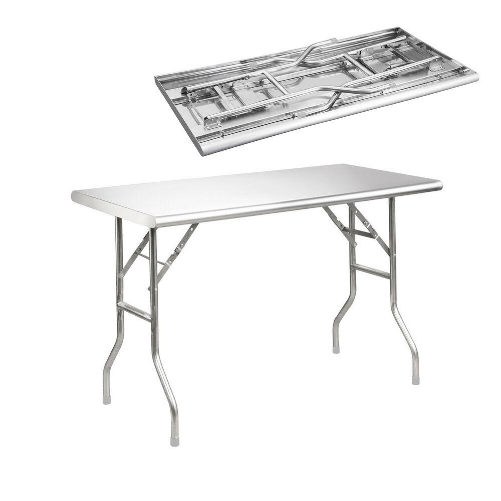 Royal Gourmet Stainless Steel Foldable Work Table 48 Quot L X
