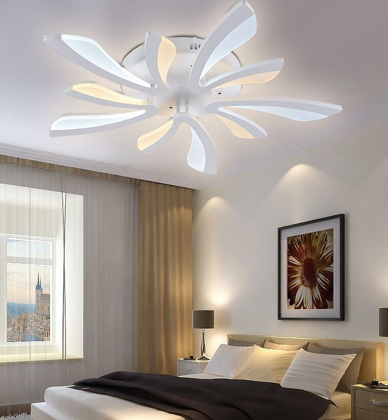 Modern decor acrylic led ceiling mount lighting bedroom for Modern living room ceiling lights