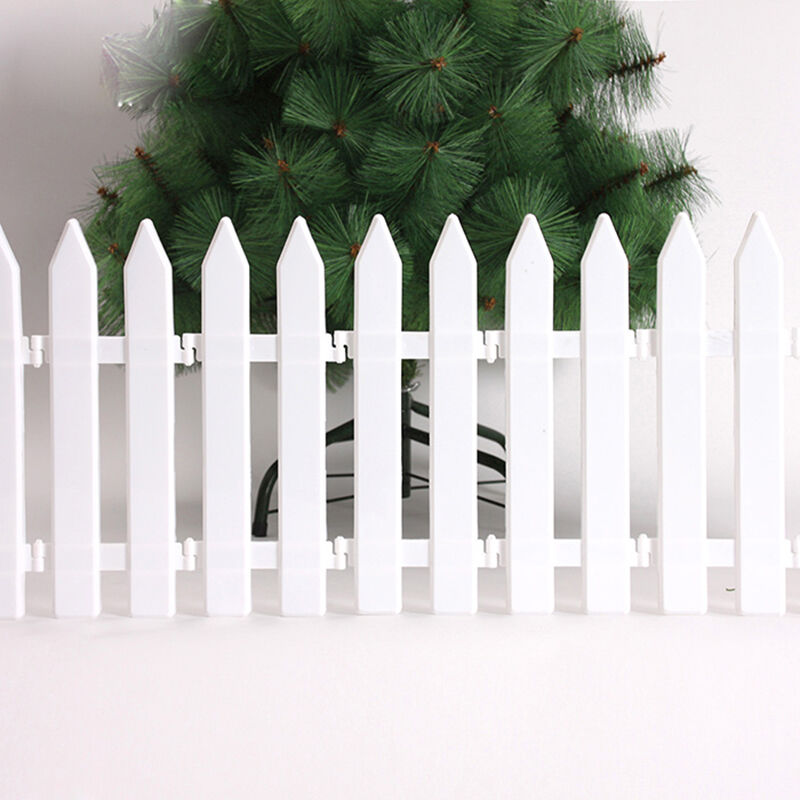 Picket Fence White Garden Fencing Lawn Edging Home Yard