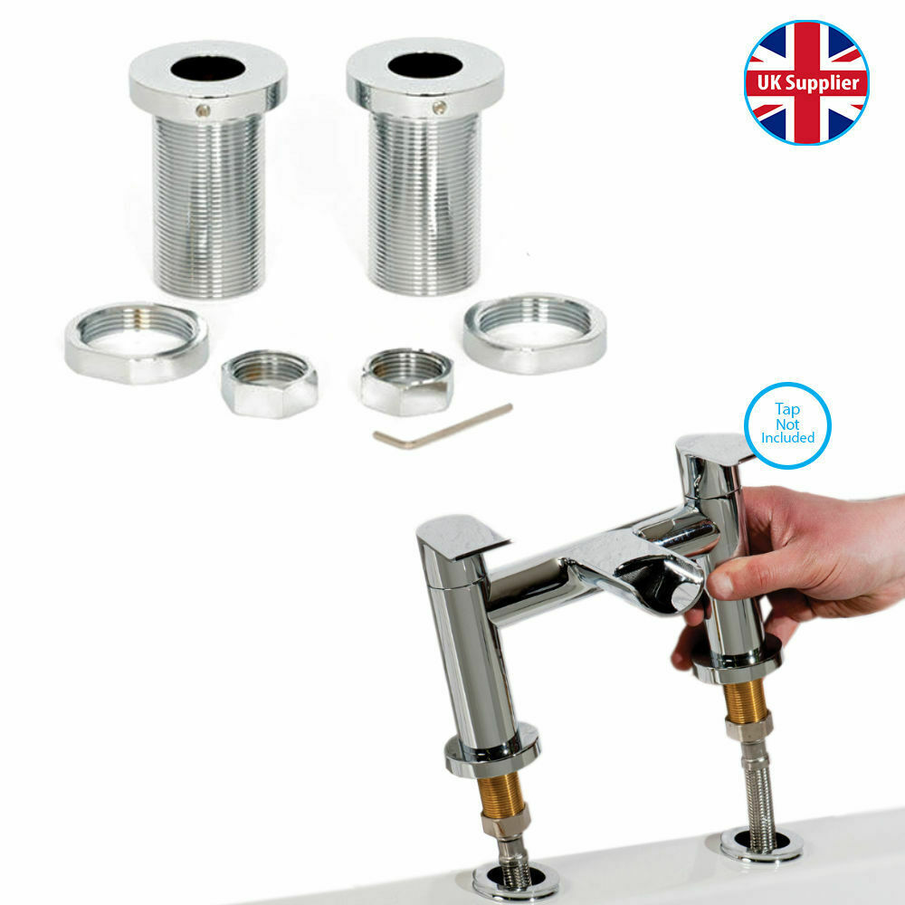 Chrome Bath Mixer Tap Easy Fix Fast Fit Kit Quick Release Fittings Fixing Chrome Ebay