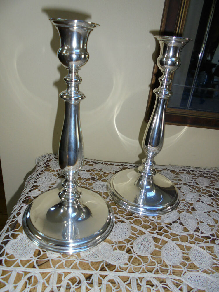 Antique Authentic Pair Tiffany Sterling Silver