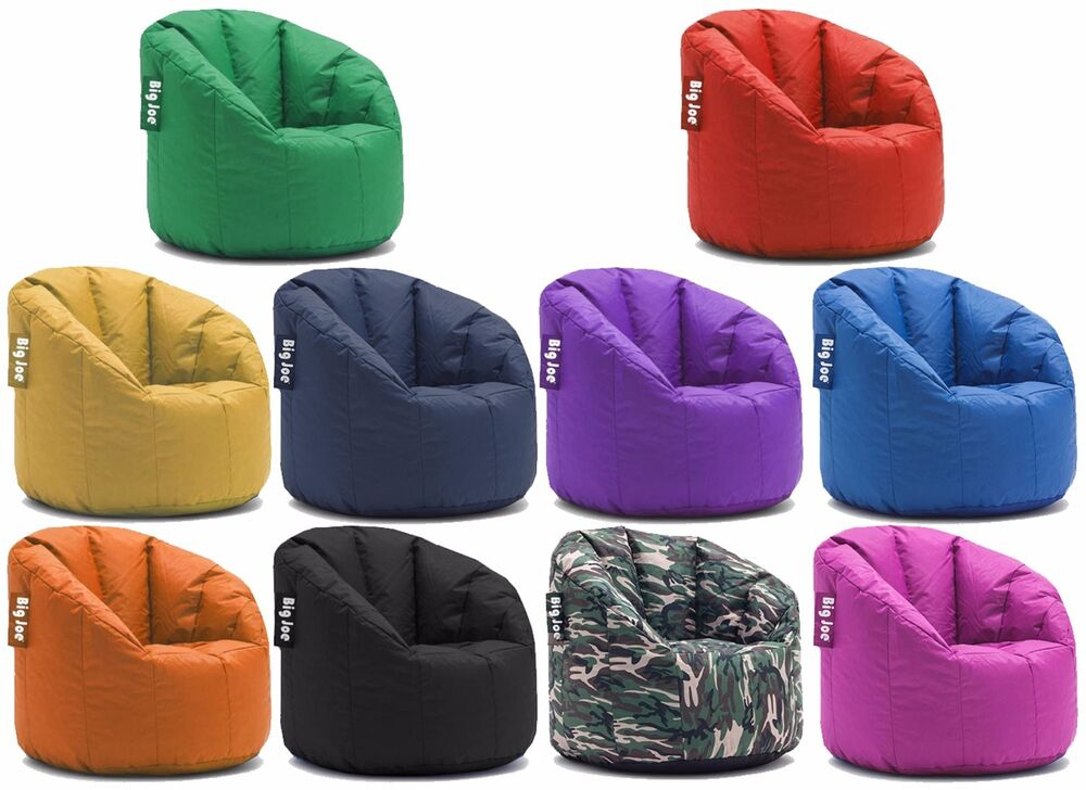 big joe milano bean bag chair multiple colors available ebay. Black Bedroom Furniture Sets. Home Design Ideas