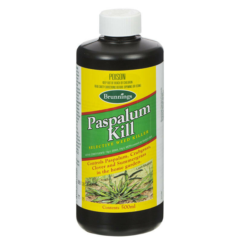 Paspalum Kill 500ml Brunnings Lawn Turf Weed Killer Crabgrass Clover Crab Grass Ebay
