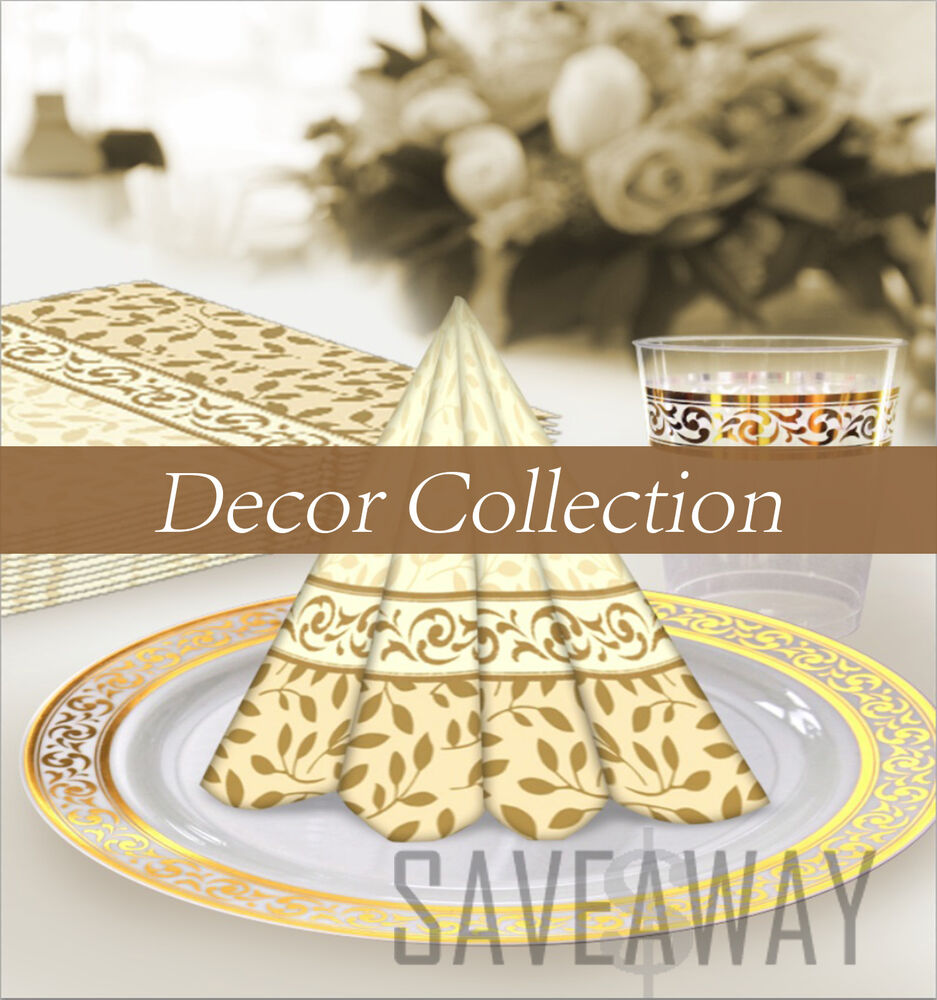 Gold Plastic Cutlery Party Decor