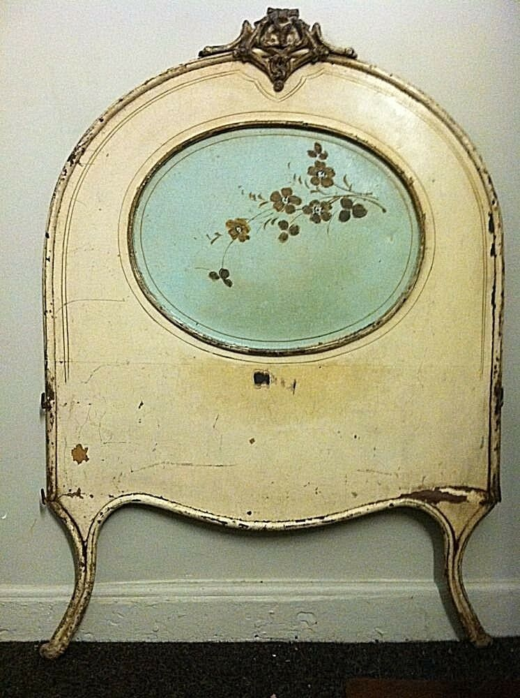 Antique Headboard Iron French Quot Shabby Chic Quot With Flowers