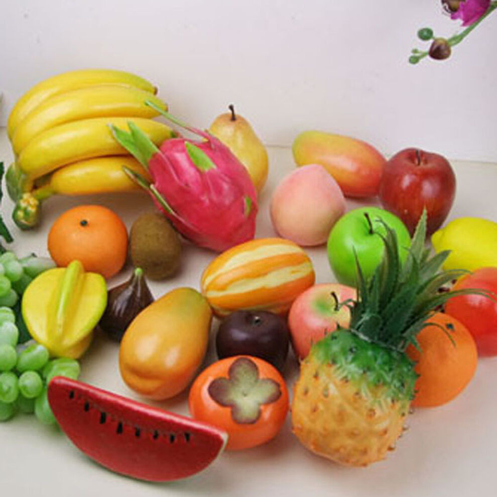 Home decor lifelike decorative plastic artificial fake for Decoration fruit