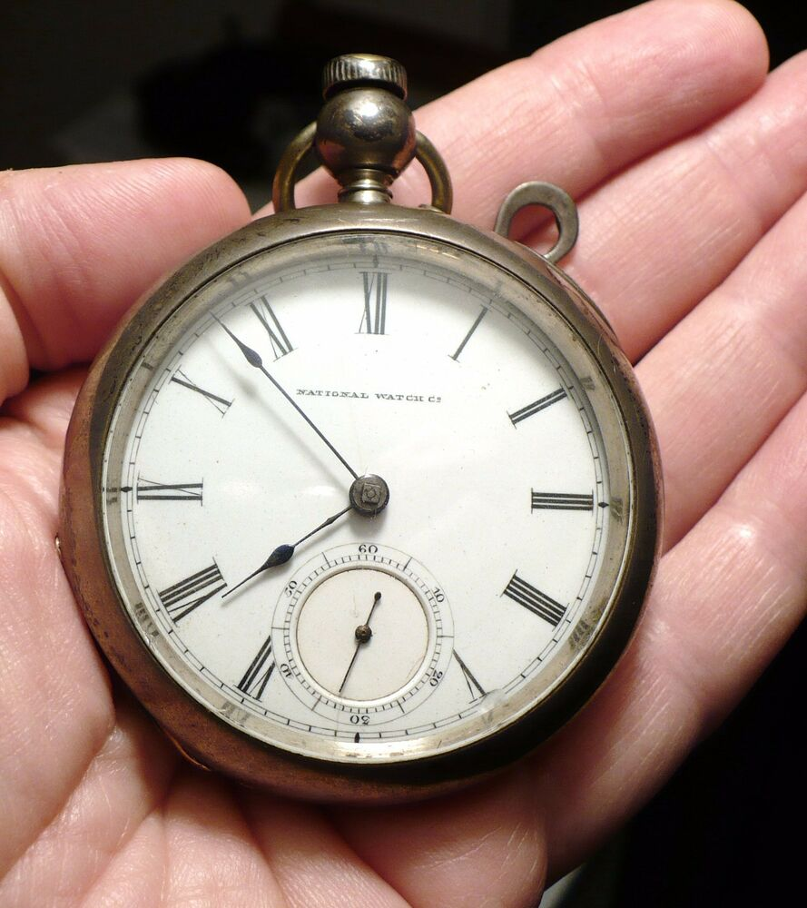 ANTIQUE 1871 COIN SILVER ELGIN POCKET WATCH 18 SIZE 7 ...