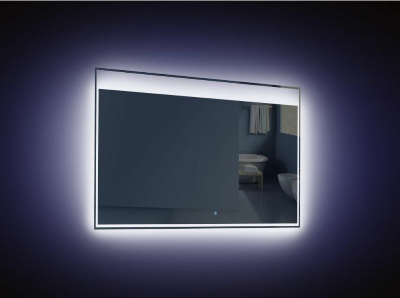 tona 36 inch wall mounted bathroom mirror with led light. Black Bedroom Furniture Sets. Home Design Ideas