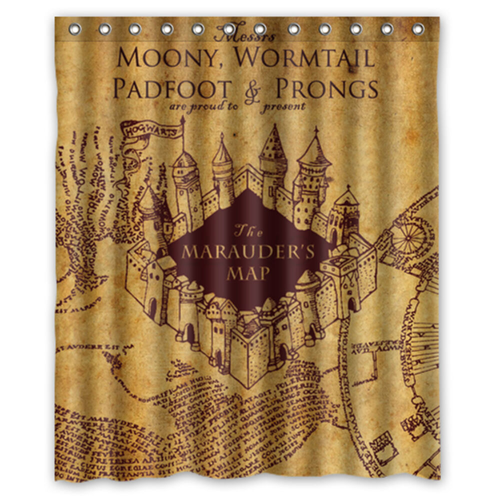 World Map Rug Ebay: Harry Potter The Marauder's Map Fabric Durable Shower