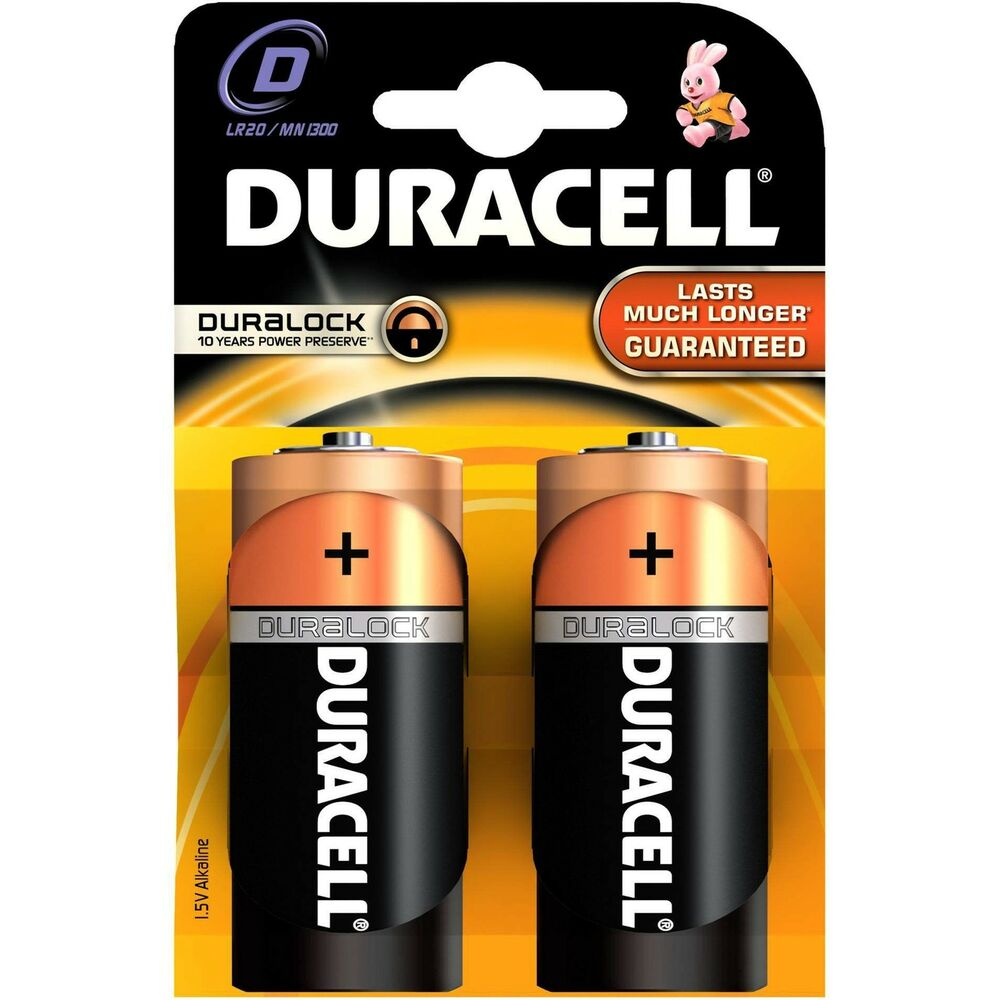 2 x duracell d alkaline lr20 1 5v batteries mn1300 duracell battery ebay. Black Bedroom Furniture Sets. Home Design Ideas