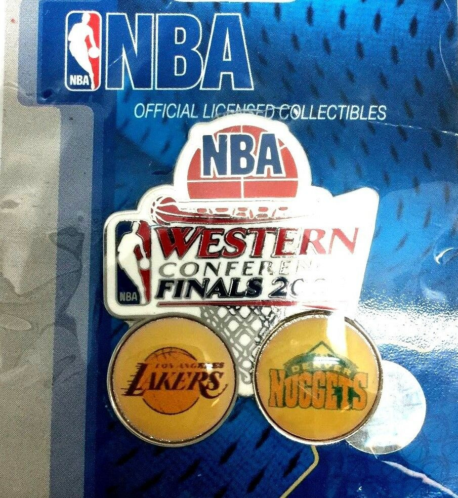 Los Angeles Lakers Lapel Pin 2009 NBA Western Finals Denver Nuggets Collector G | eBay