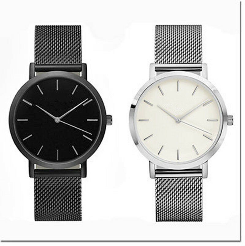 Classic Women's Men's Wrist Watch Steel Strap Quartz ...