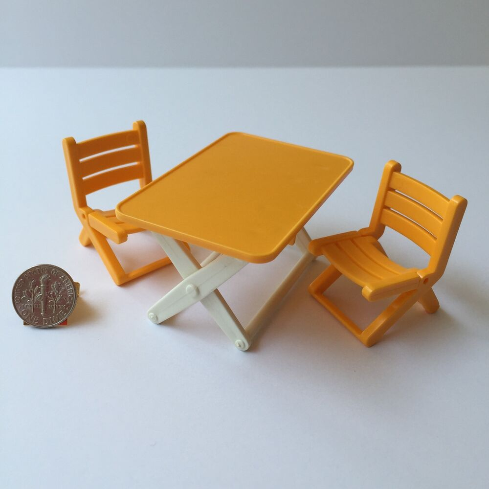 Playmobil yellow folding table chairs 5759 5746 jungle Table playmobil