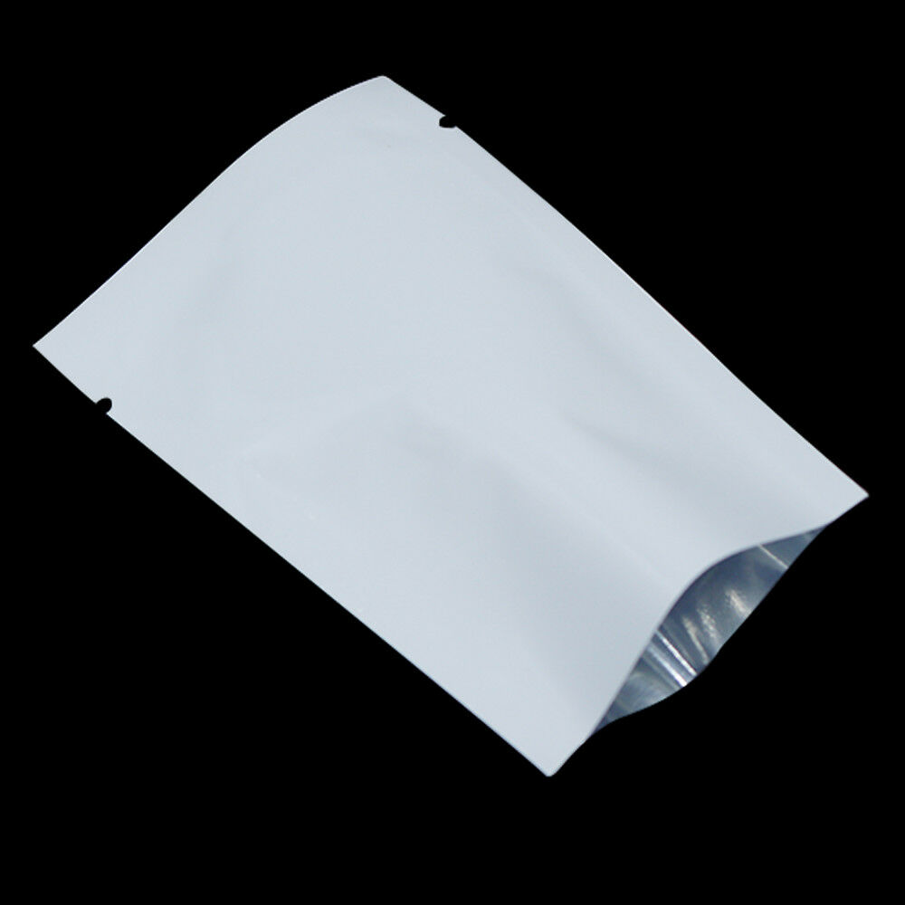 100pcs White Aluminum Foil Heat Seal Smell Proof Bags