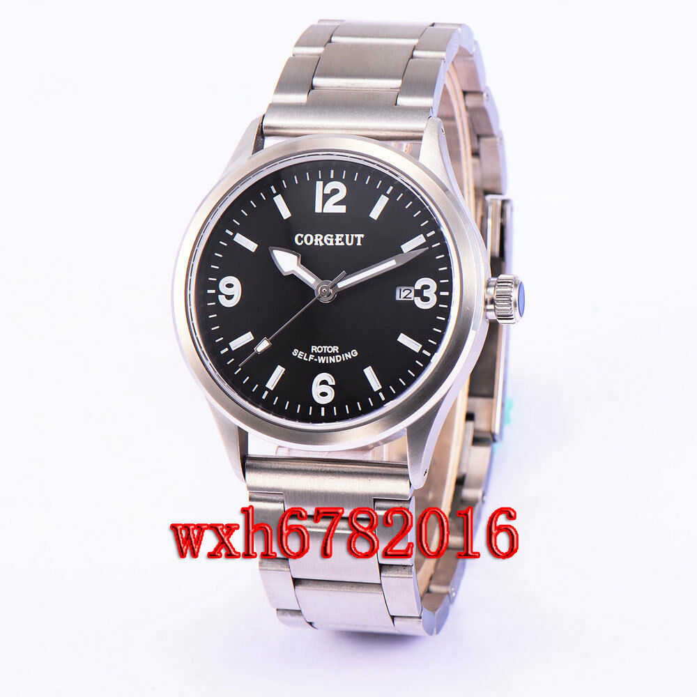 41mm corgeut sapphire glass automatic 21 jewels miyota 8215 movement watch 046 ebay for Auto movement watches