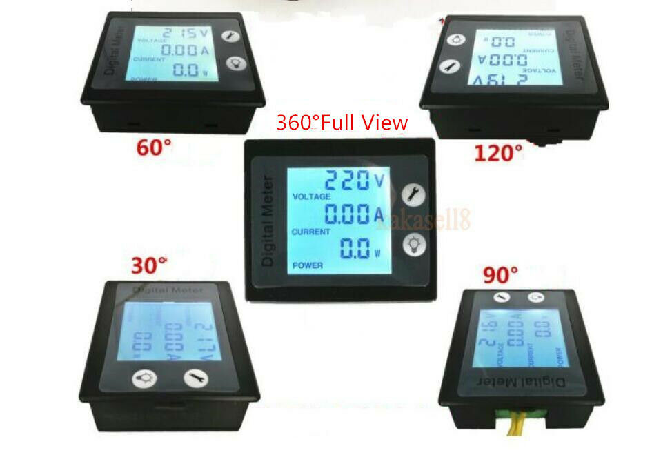L De Voltage Meter : In a ac digital combo monitor voltage current kwh