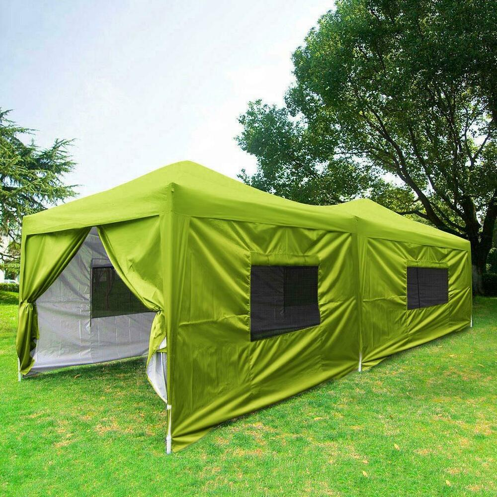 Upgraded Quictent 10x20 Ez Pop Up Canopy Tent Green Party