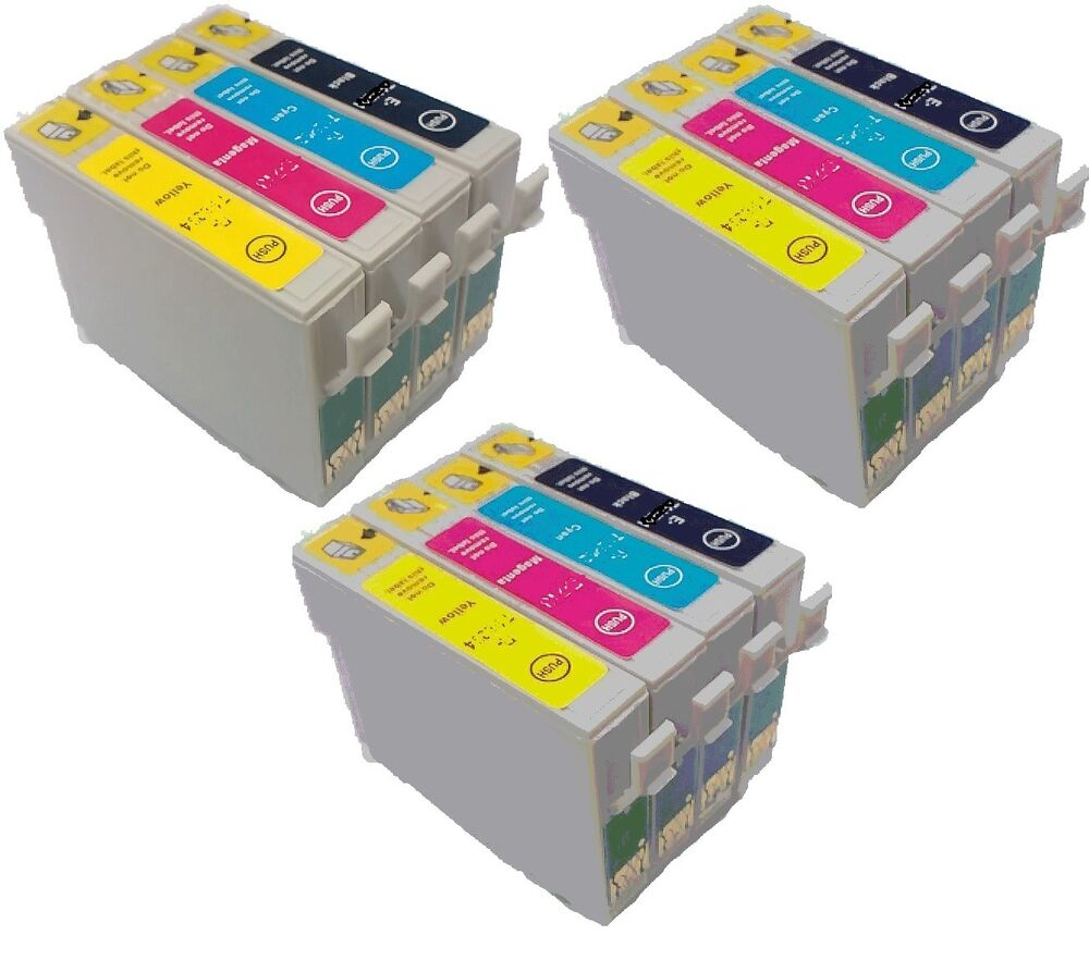 now ink 12 ink cartridges for epson printers t0611 t0612 t0613 t0614 t0615 ebay. Black Bedroom Furniture Sets. Home Design Ideas