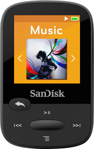 Sandisk Clip Sport 8gb Mp3 Player Black Ebay