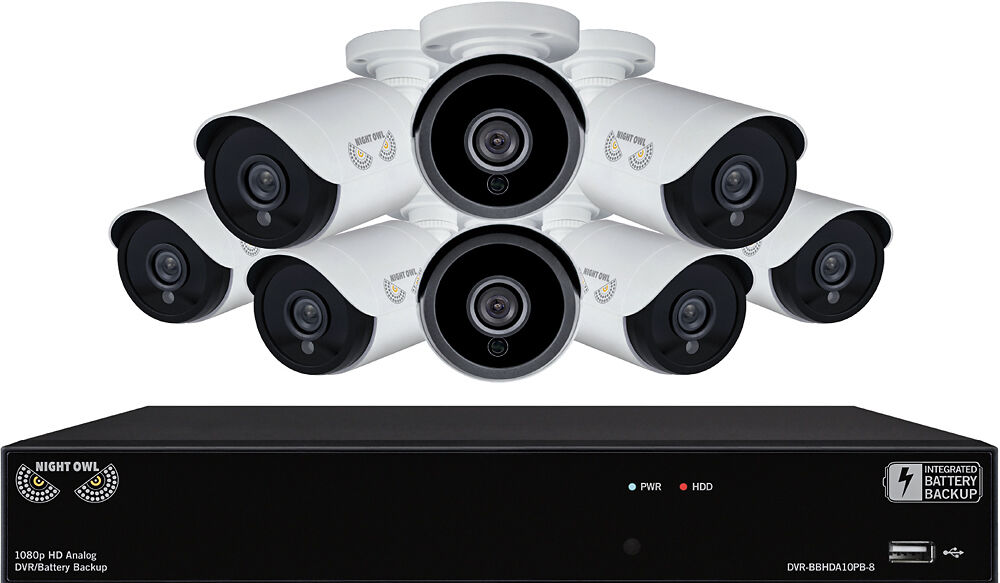 8-Channel, 8-Camera Indoor/Outdoor Wired 1080p