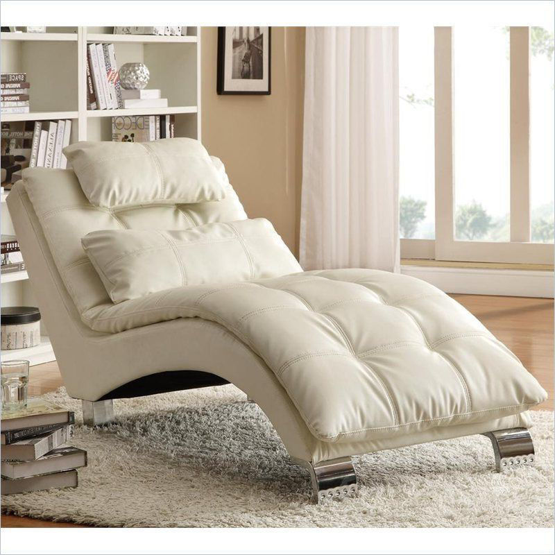 Chaise lounge chair indoor cheap dream contemporary cream for Affordable chaise lounge indoor