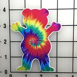 Grizzly Grip Tie Dye 4'' TAll Color Vinyl Decal Sticker BOGO