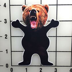 Grizzly Grip Grizzly 4'' TAll Color Vinyl Decal Sticker BOGO