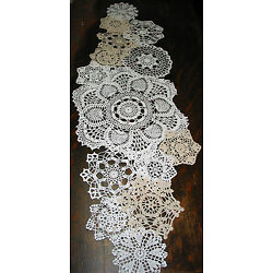 Kyпить  lot of 14 Hand Crochet Doilies 5