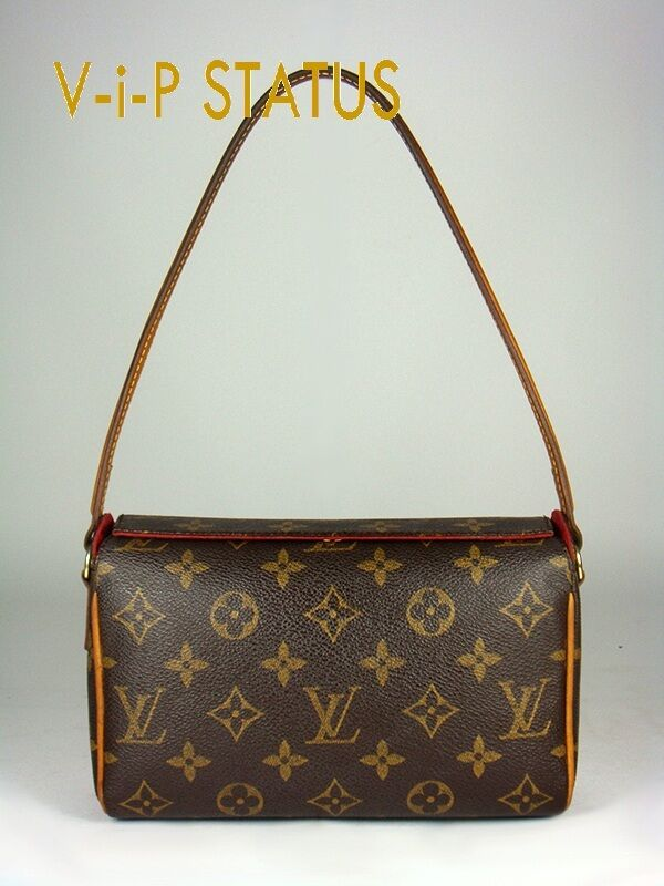 louis vuitton recital monogram canvas kleine handtasche pochette original ebay. Black Bedroom Furniture Sets. Home Design Ideas