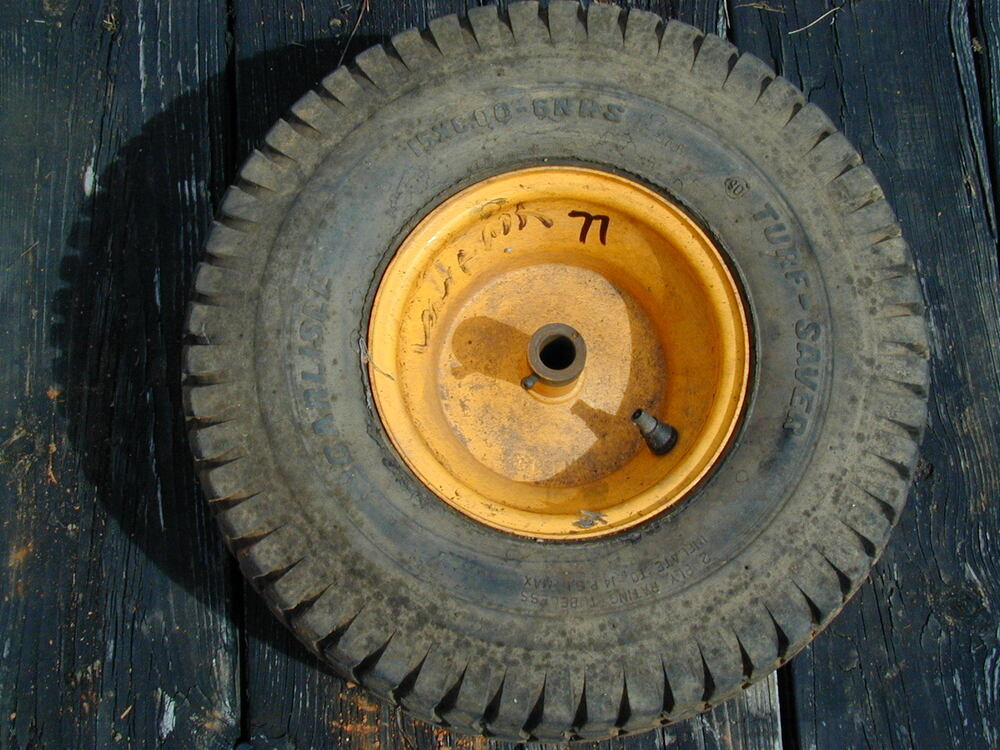 77 Cub Cadet Mtd Riding Lawn Mower Front Tire Wheel 15