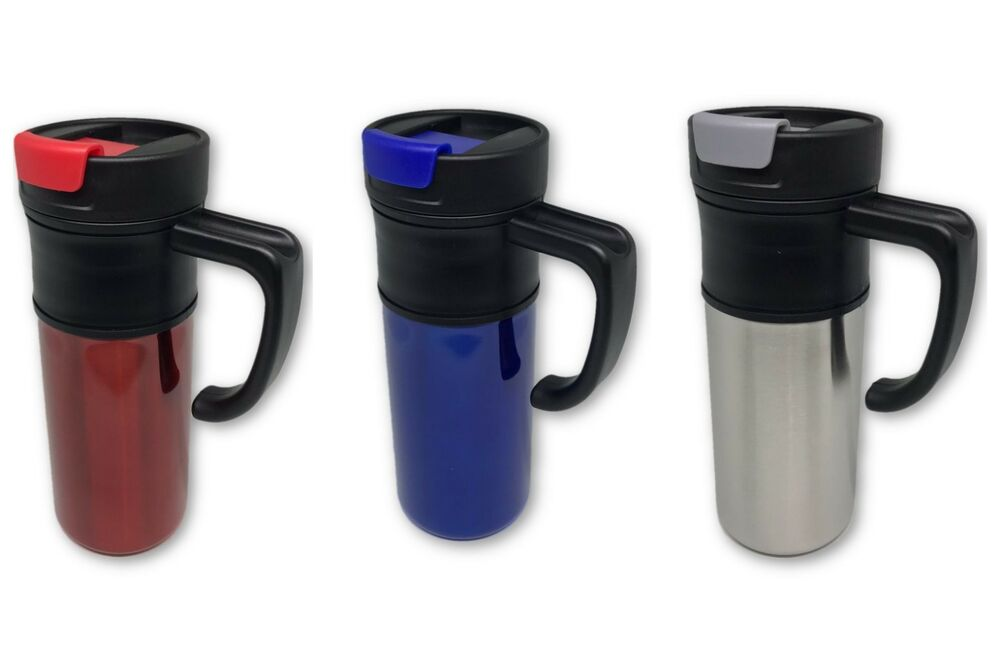New 16oz Stainless Steel Coffee Cup With Handle Insulated