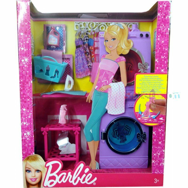 mattel barbie glam laundry furniture set x7938 great gift