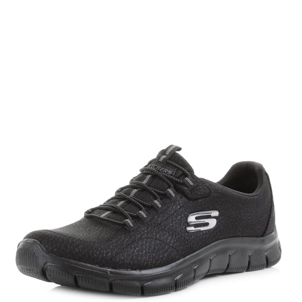 womens skechers empire take charge all black relaxed fit
