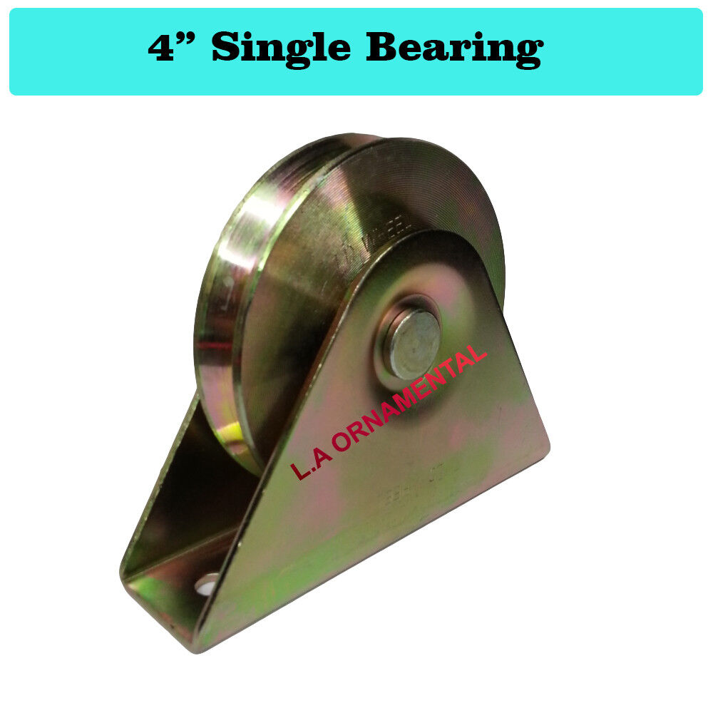 4 Quot Temper Steel Single Bearing Vgroove Wheel With Bracket