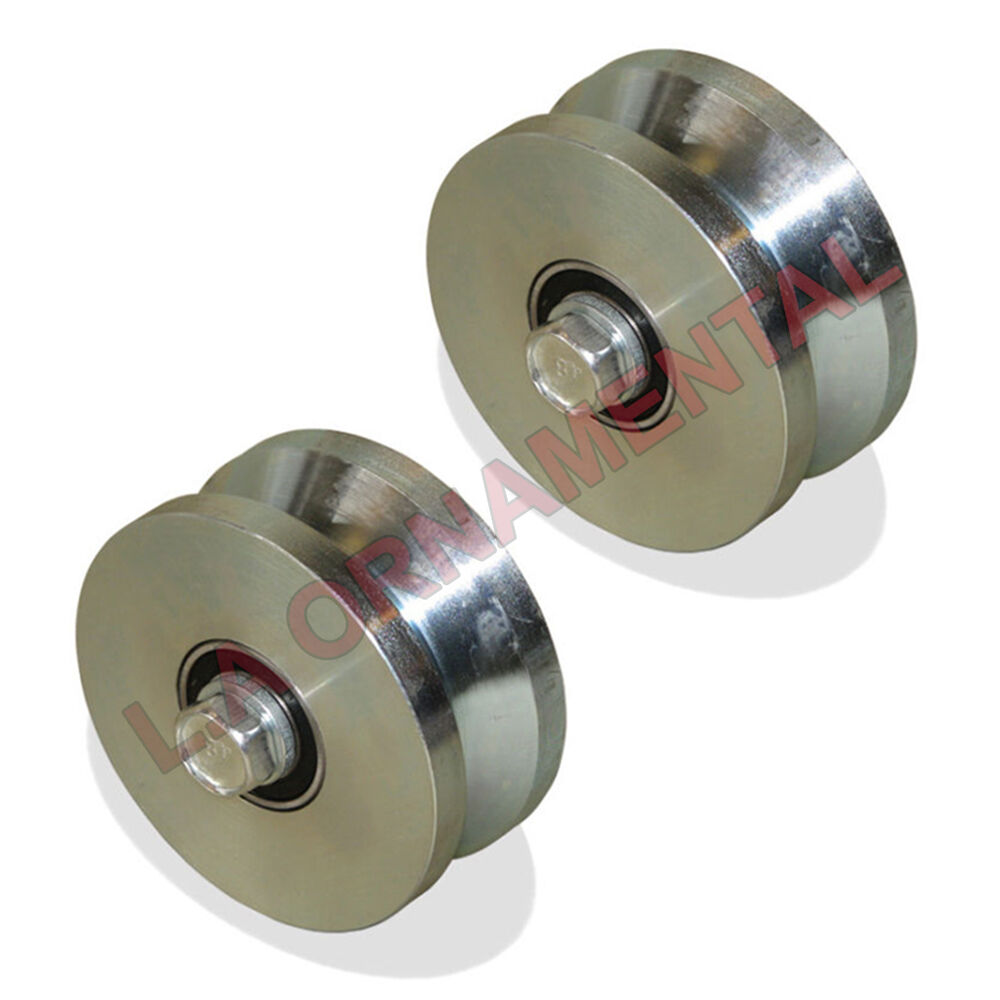 4 Quot Elite Wheel V Groove Wheel Double Bearing Sliding Gate
