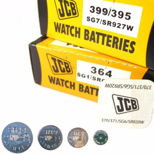 JCB Watch Batteries 1.5V Silver Oxide Coin Cell Battery  ( All Sizes )