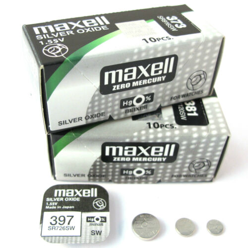 Maxell Watch Batteries ( All Sizes ) Silver Oxide Mercury free Hg0% Best Quality