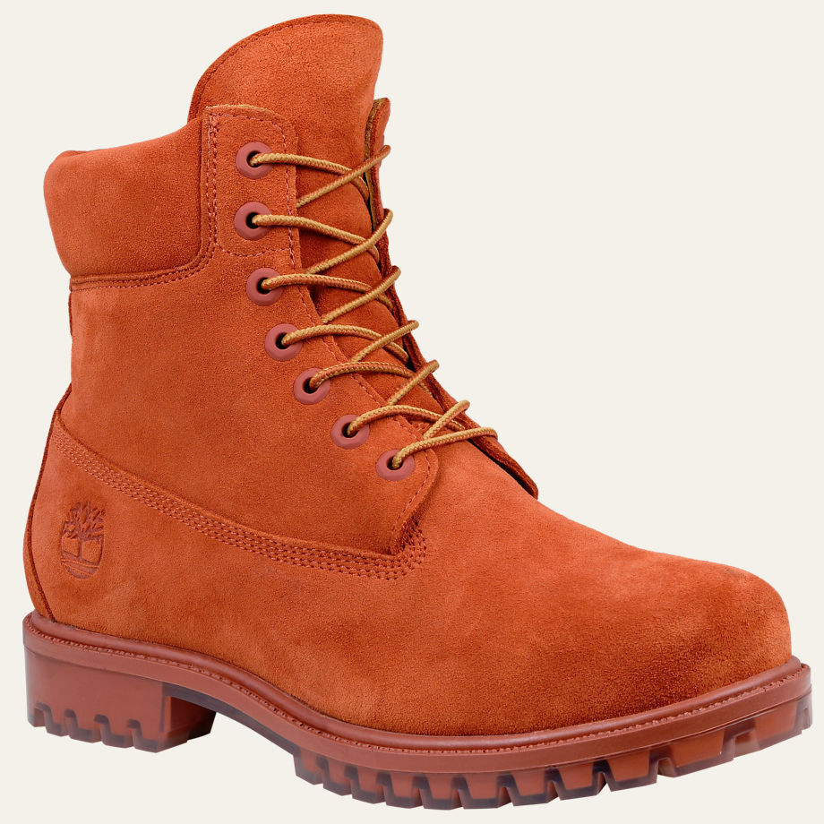 Timberland Men S Boot 6 Inch Premium 0a18po Rust Orange