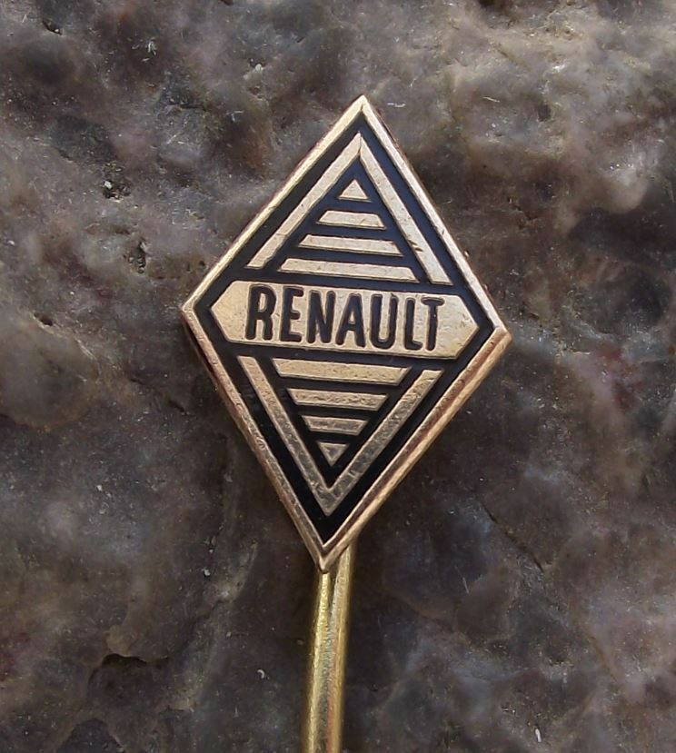 Antique 1960s Renault French Car Maker Diamond Logo