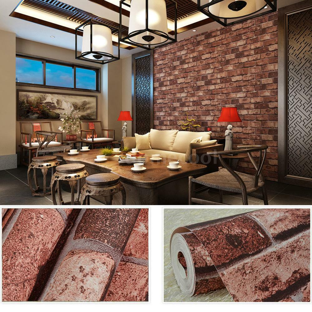 3d Brick Wall Effect Wallpaper Background Home Living Room