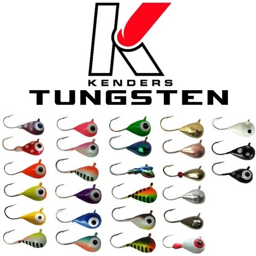 Tungsten jigs 3mm size 16 hook many colors kenders for Tungsten ice fishing jig