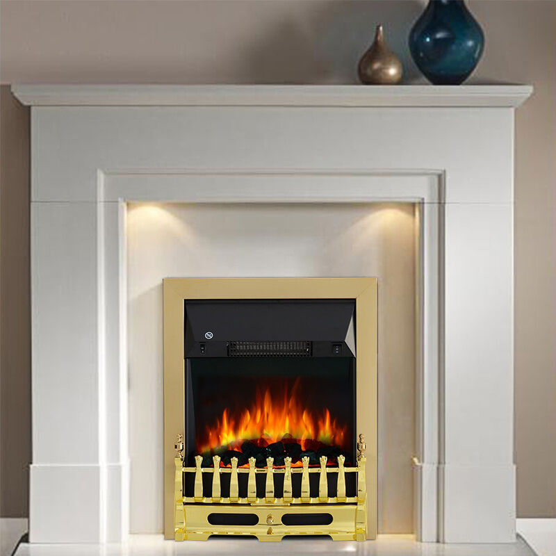 2000w electric fireplace fire led burning flame insert surround heater freestand ebay. Black Bedroom Furniture Sets. Home Design Ideas