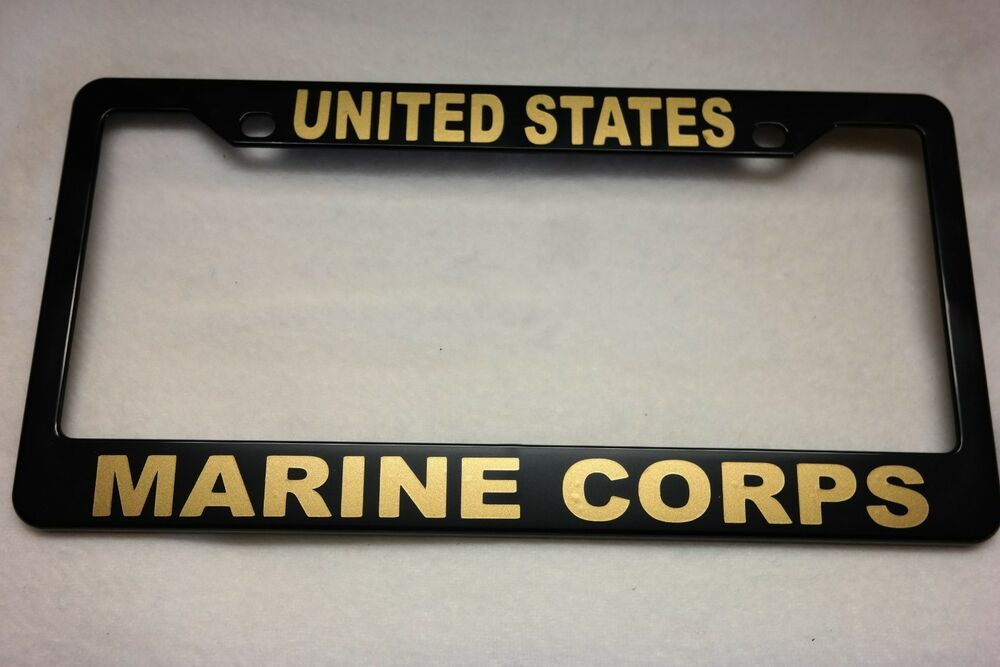 Military License Plate Frame United States Marine Corps
